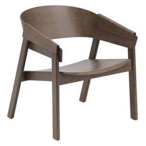 Cover Lounge Low armchair - / Wood by Muuto Natural wood