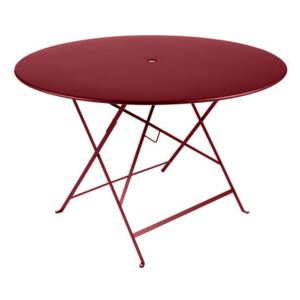 Bistro Foldable table - Ø 117 cm - 6/8 people - Umbrella Hole by Fermob Red