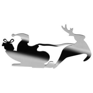 Barksled Candle stick - / Santa & sleigh by Alessi Metal
