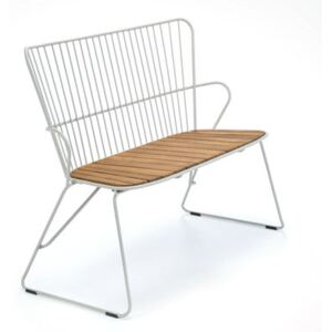 Paon Bench - / L 116 cm - Metal & bamboo by Houe Beige/Natural wood