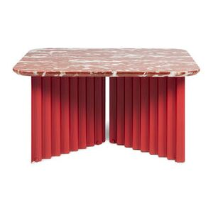 Plec Medium Coffee table - / Marble - 70 x 70 x H 35 cm by RS BARCELONA Red