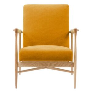 Floating Padded armchair - / Fabric - Oak structure by RED Edition Yellow/Orange/Natural wood