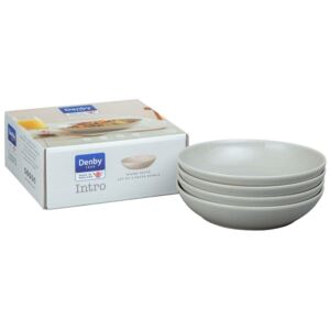 Denby Intro Warm Taupe Set Of 4 Pasta Bowls
