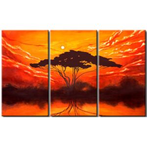 Canvas Print Landscapes: Sunset in Africa