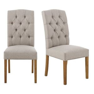 Furnitureland - California Pair of Button Back Upholstered Dining Chairs