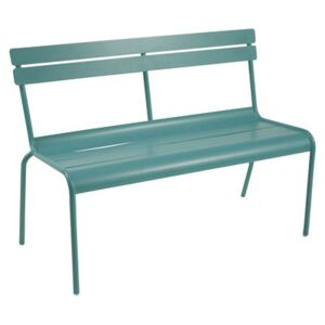 Luxembourg Bench with backrest - 2/3 seats by Fermob Blue/Green