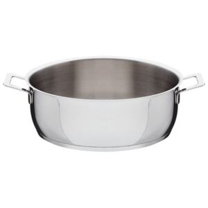 Pots and Pans Low casserole - 2 handles by A di Alessi Metal