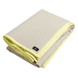 Bias Plaid - / Quilted - 245 x 195 cm by Hay White/Yellow