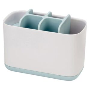 Easy-Store Large Toothbrush holder - / 6 compartments by Joseph Joseph White/Blue