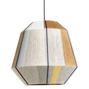 Bonbon Large Lampshade - / Ø 50 cm - Hand-woven wool by Hay Grey/Beige