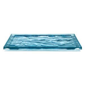 Dune Large Tray - / 55 x 38 cm - PMMA by Kartell Blue