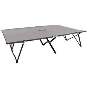 Two Person Folding Sun Lounger Grey Steel