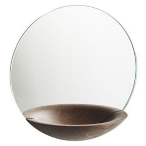 Pocket Small Mirror - Ø 26 cm by Woud Natural wood