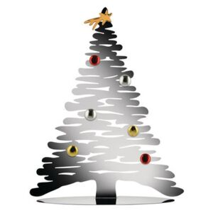 Bark Tree Decoration - / Christmas tree with coloured magnets - H 45 cm by Alessi Metal