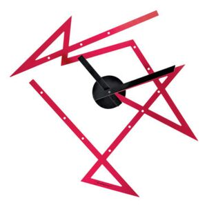 Time Maze Wall clock - 50 x 47.5 cm by Alessi Red/Black