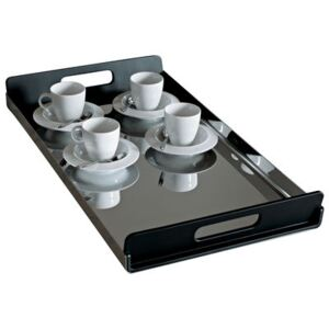Vassily Tray by Alessi Black/Metal