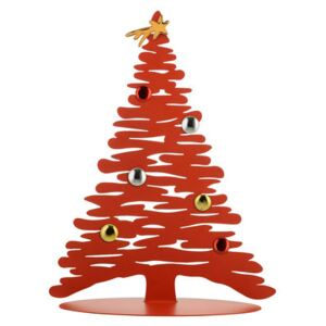 Bark Tree Decoration - / Christmas tree with coloured magnets - H 45 cm by Alessi Red