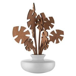 The Five Seasons Aroma vaporizer - / Porcelain - H 22.5 cm by Alessi White/Natural wood
