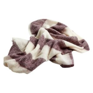 Mohair Plaid - /120 x 180 cm by Hay White/Red