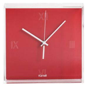 Tic & Tac Wall clock by Kartell Red/Orange