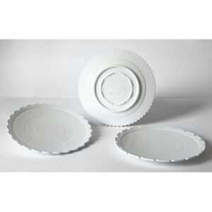 Machine Collection Plate - / Set of 3 - Ø 27,2 cm by Diesel living with Seletti White