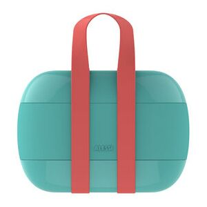 Food à porter Lunch box - / 2 compartments by Alessi Blue