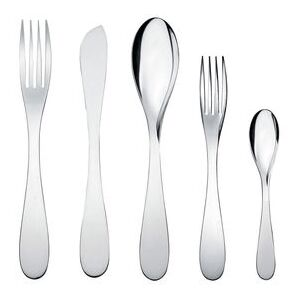 Eat.it Cutlery set - 1 person / 5 pieces by Alessi Metal