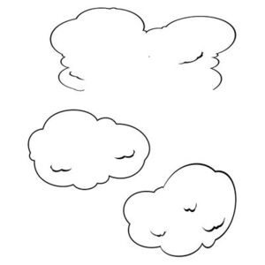 Ceiling clouds Sticker by Domestic Black