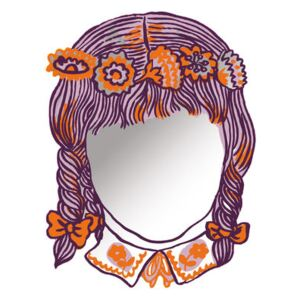 Fille self-sticking mirror - autocollant by Domestic Mirror