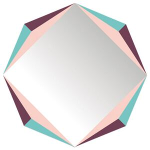 The Octagon self-sticking mirror - 48 x 48 cm by Domestic Multicoloured