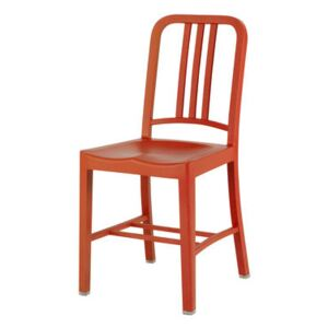 111 Navy chair Chair - Recycled plastic by Emeco Orange