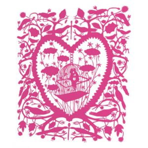 Caged Lovers Sticker by Domestic Pink