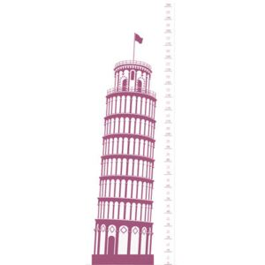 Measuring Souvenir from Pisa Sticker - Height gauge by Domestic Pink/Purple
