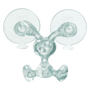 Bunny Wall hook - With sucker by Koziol Transparent