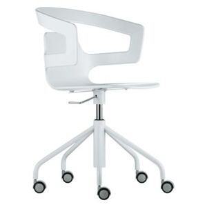 Segesta Studio Armchair on casters - With castors by Alias White