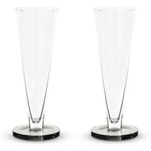 Puck Champagne glass - / Set of 2 - Mouth-blown glass by Tom Dixon Transparent
