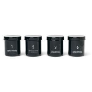 Cannelle Scented candle - / Advent calendar - Set of 4 by Ferm Living Black