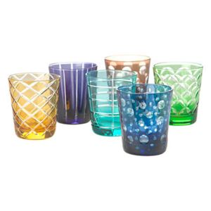 Cuttings Water glass - / Set of 6 by Pols Potten Multicoloured