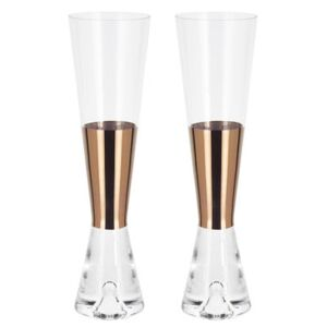 Tank Champagne glass - Set of 2 - Exclusivity by Tom Dixon Transparent/Copper