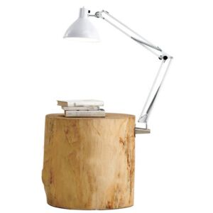 Piantama End table - / Lamp included - H 50 cm by Mogg White/Natural wood