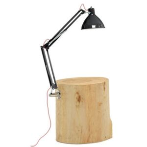 Piantama End table - / Lamp included - H 50 cm by Mogg Black/Natural wood