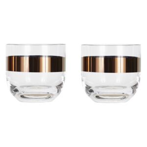 Tank Whisky glass - Set of 2 by Tom Dixon Transparent/Copper