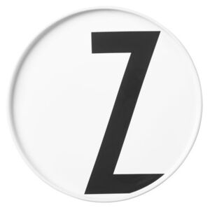 A-Z Plate - Porcelain - Z by Design Letters White