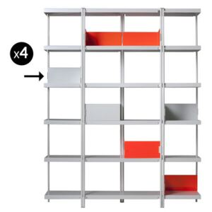 Book end - For ZigZag bookcase - Set of 4 by Driade White