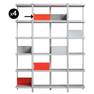 Book end - For ZigZag bookcase - Set of 4 by Driade Orange