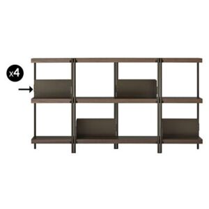 Book end - For ZigZag bookcase - Set of 4 by Driade Brown