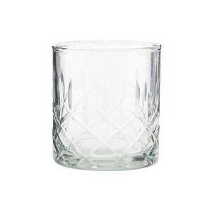 Vintage Whisky glass - / Engraved glass by House Doctor Transparent