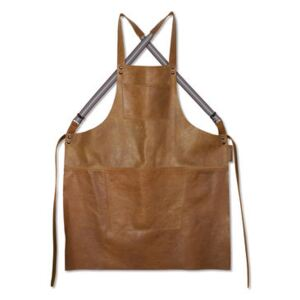 Apron - leather / Crossed straps by Dutchdeluxes Brown