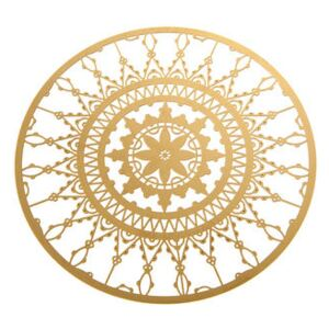 Italic Lace Glass coaster - Ø 10 cm - Set of 4 by Driade Kosmo Gold