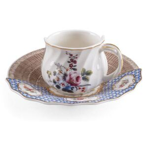 Hybrid Djenne Coffee cup - / Coffee cup + saucer set by Seletti Multicoloured